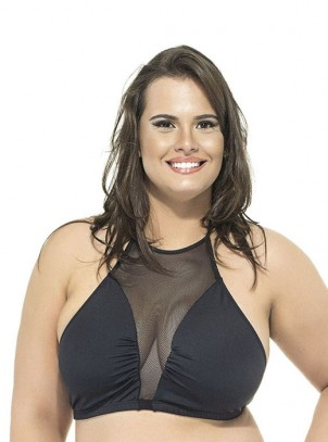 Top sem Bojo Frente Única Plus Size