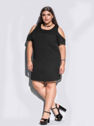 Vestido Plus Size Black Fashion
