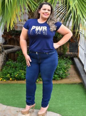 Calça Jeans Plus Size Cigarrete Confort